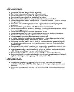 Sample Career Objectives Examples For Resumes Resumes