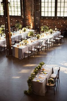 Wedding Ideas: The Industrial-Style Soirée - wedding reception idea; Root Photography