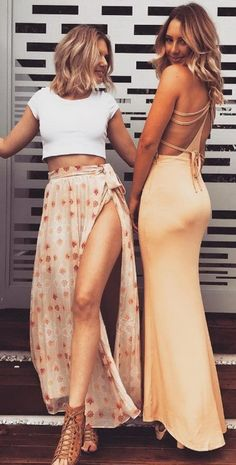 Liberty Halter Gown (right) left skirt sold out | #SaboSkirt