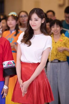 Male Beauty, Asian Beauty, Perfect Smile, Chinese Actress, Art Girl, Korean Girl, High Waisted Skirt, Tulle, Actresses