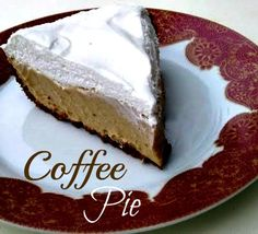 Coffee Pie...gotta try this
