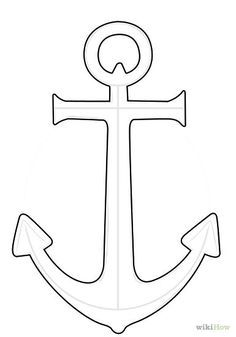 How to Draw an Anchor,Tricotin Eduardo An point is really a device, generally made from steel. Deco Pirate, Pirate Theme, Nautical Baby, Nautical Theme, Beach Crafts, Diy And Crafts, Wood Crafts, Anchor Stencil, Seashell Crafts