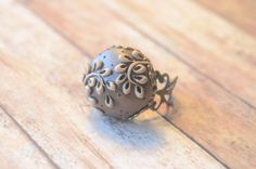 Hand made Polymer Clay Ring on Antiqued Brass  by AidensBrook, $14.00