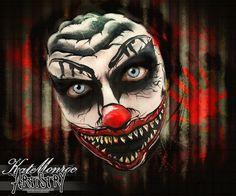 Killer clown face paint Halloween