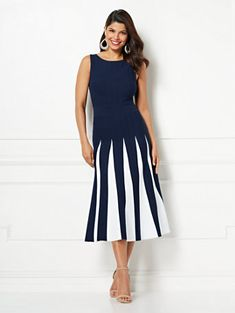 134104ad39 Grace Pleated Sweater Dress - Eva Mendes Collection. New York   Company