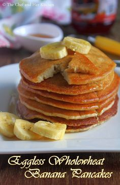 Pancakes are quick to make as they do not need any fermentation and also they ca. - Pancakes are quick to make as they do not need any fermentation and also they can be prepared insta - Banana Pancakes For Baby, Eggless Banana Pancakes, Eggless Pancake Recipe, Eggless Baking, Pancake Recipes, Banana Recipes Eggless, Banana Recipes Indian, Healthy Banana Recipes, Kids Cooking Recipes