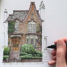 New house drawing design illustrations Ideas Architecture Drawing Art, Architecture Sketchbook, Islamic Architecture, House Architecture, Art And Illustration, Watercolor Illustration, Design Illustrations, Building Illustration, Character Illustration