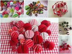 Soooo cute... You could make these into a swag (on a ribbon of string)!