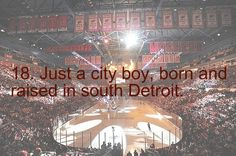 """Don't Stop Believing"" Actually, south of Detroit is Windsor, Canada. Those from southwest Detroit would know this. Detroit Hockey, Hockey Mom, Hockey Teams, Just A City Boy, Joe Louis Arena, Red Wings Hockey, The Joe, Go Red, Fitness Activities"