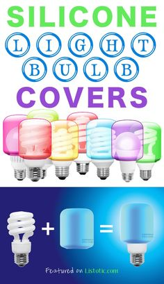 We've switched to the florescent light bulbs...and lets face...they are anything but pretty! These silicone light bulb covers are easy to slip onto any CFL/LED lightbulb, and then can be just as easily switched as the mood strikes.