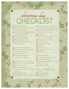 Christmas Day Checklist ~ For the Familiographer | Akemi Photography    #Familiographer #FamilyPhotography #Checklist