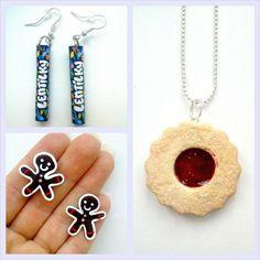 Bižuterie z polymerové hmoty Cernit. Pozor nejíst! :-) Diy And Crafts, Drop Earrings, Personalized Items, Jewelry, Bijoux, Drop Earring, Jewlery, Jewels, Jewelery