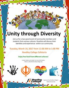 Don't miss the upcoming two-panel event of community members and students from various cultures Tuesday, March 14th from 11am to 1pm in the Reedley College Cafeteria.