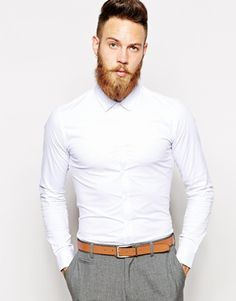 ASOS+Smart+Shirt+In+Long+Sleeve+With+Stretch