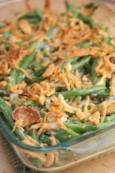 Classic Green Bean Casserole With Campbell's Condensed Cream Of Mushroom Soup, Milk, Soy Sauce, Ground Black Pepper, Cooked Cut Green Beans, French's French Fried Onions