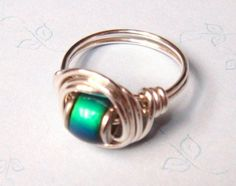 Mood Ring    Mood Bead Sterling Silver Ring    by SpiralsandSpice, $19.95