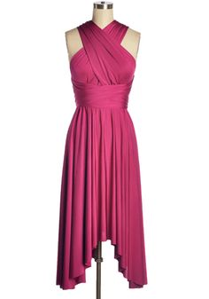It's Magical Convertible Dress in Fuschia - $59.95 : Indie, Retro, Party, Vintage, Plus Size, Convertible, Cocktail Dresses in Canada