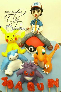 Picachu y sus amigos en porcelana fria