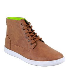 Light Brown Chase Hi-Top Sneaker