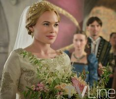 """Reign -- """"Blood for Blood"""" -- Image Number: -- Pictured: Celina Sinden as Greer -- Photo: Ben Mark Holzberg/The CW -- © 2014 The CW Network, LLC. All rights reserved. Reign Mary, Mary Queen Of Scots, Queen Mary, Red Queen, Greer Reign, Reign Season 2, Celina Sinden, Marie Stuart, Le Mont St Michel"""
