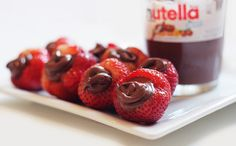 Nutella-filled strawberries