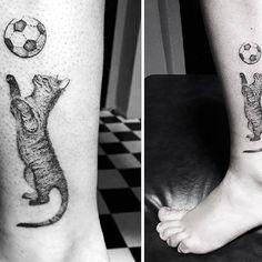 Playful kitty :) #cat #cattattoo #tattoos #tattoo #tatuaż #tatuaże #ink #inked #skinart #blacktattoo #darkartist #tattoed #blackwork #tattooart #tattooer #tattoolove #tattooartist #polishartist #polishtattoo #tattooworkers #tattooadict #inkedbody #tatt #tatts #tattoosforgirls #bestink #blackwork #dotwork #lodz