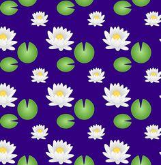 Lotus pond pattern