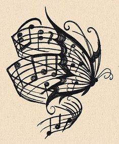 I ❤ this tatoo Music Drawings, Art Drawings, Music Tattoos, Cool Tattoos, Music Tattoo Designs, Tatoos, Love Music Tattoo, Design Tattoos, Kunst Tattoos