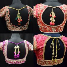 Heavy work Blouse Designs for Silk Sares