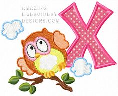 Free Embroidery Design: Letter X