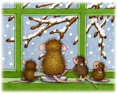 Refrigerator Magnet - - The Official House-Mouse Designs® Web Site House Mouse Stamps, Mouse Pictures, Mouse Color, Cute Mouse, Tatty Teddy, Penny Black, Digi Stamps, Cute Illustration, Coloring Pages