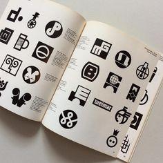 Spread taken from Marken Zeichen Signete by Hans-Jürgen Kebler 1970 available through Counter-Print.co.uk