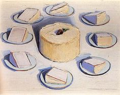Wayne Thiebaud Around the Cake 1962 oil on canvas 22 1/8 x 28 1/16 in. at the Whitney Museum of American Art