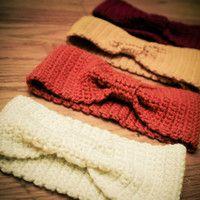 Crochet headband. Those would definitely keep my ears warm!