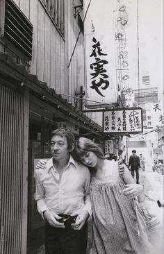 Serge Gainsbourg and Jane Birkin in Japan.