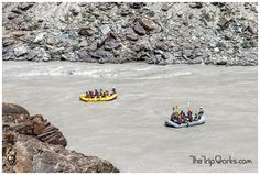 Feel the adrenaline surge in your veins, as you raft through the perilous river of #Zanskar in #Ladakh!