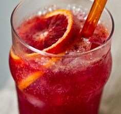 Blood orange and ginger drink...perfect for those sicky days i think!