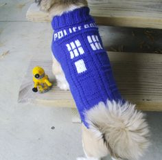 INSPIRATION: TARDIS Dog Sweater