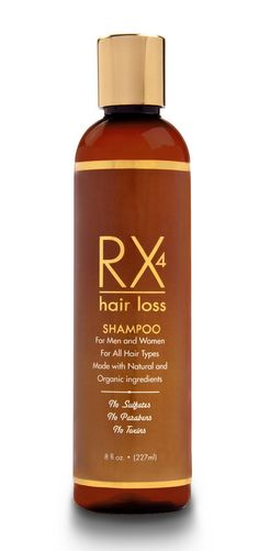 Rx 4 Hair Loss Shampoo For Men & Women. See Product description here: http://www.rx4hairloss.com/collections/all/products/rx4-hair-loss-shampoo-for-men-women