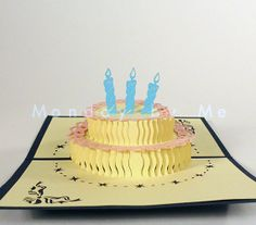 3D Popup Card Happy Birthday by Mondaybyme on Etsy, $8.00