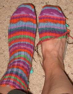 """Winner"" Sock Pattern  Toe up basic sock pattern"