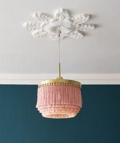 Heh! I can't help it. :) - Taklampan, en fin retro lampa med silkesfransar av Hans-Agne Jakobsson 1960 #LampLight