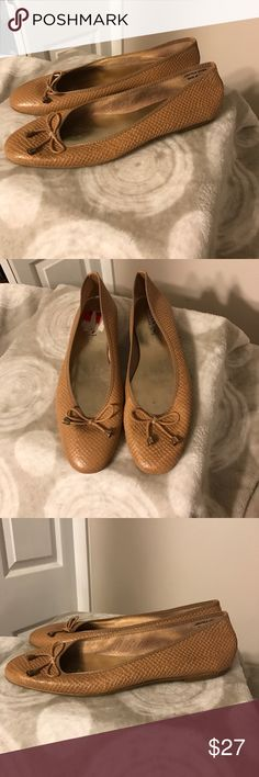 NWOT Italian Shoemaker tan flats Size 10 Great comfortable tan flats by Italian Shoemaker. They were just a little bit too big for me. Made in Italy. Size 10.                            Smoke free home. Reasonable offers welcome. Italian Shoemaker Shoes Flats & Loafers