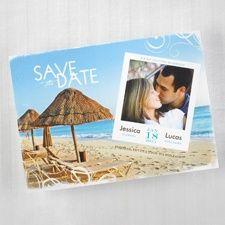 On the Beach Save the Date Card www.dmeventsanddesign.com