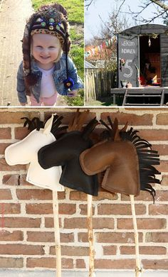 maak een stokpaard, stokpaard van vilt maken, diy, indianenfeestje