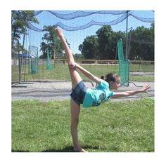 Needle.Baseball.Gymnastics. Annie Instagram @presshandstands Annie the Gymnast!