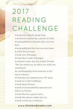 Darlene's Book Nook: 2017 Reading Challenges