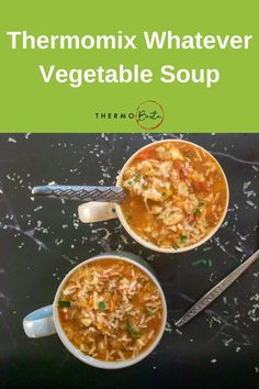 This hearty Thermomix Whatever Vegetable Soup is a great last minute meal and perfect for emptying out the end of the veggie drawer Chunky Vegetable Soup, Vegetable Drawer, Vegetable Soup Healthy, Healthy Soup, Vegetable Dishes, Thermomix Recipes Healthy, Thermomix Soup, Soup Recipes, Snack Recipes
