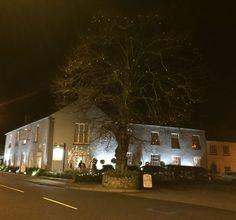 Browne's On The Green, Tyrrellspass, Westmeath, Ireland at nighttime. Greens Restaurant, Function Room, Car Parking, Night Time, Ireland, Pergola, Restaurants, Mansions, House Styles