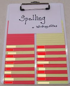 I will use this for writing workshop (not spelling test words) but LOVE the organization idea! :)